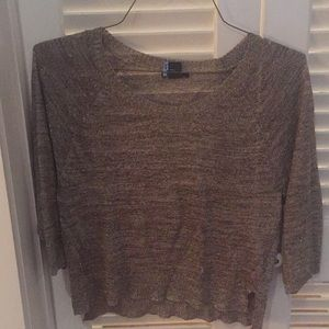 Gold cropped lightweight sweater